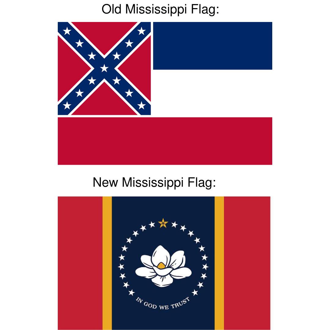 Old Mississippi Flag vs New Mississippi